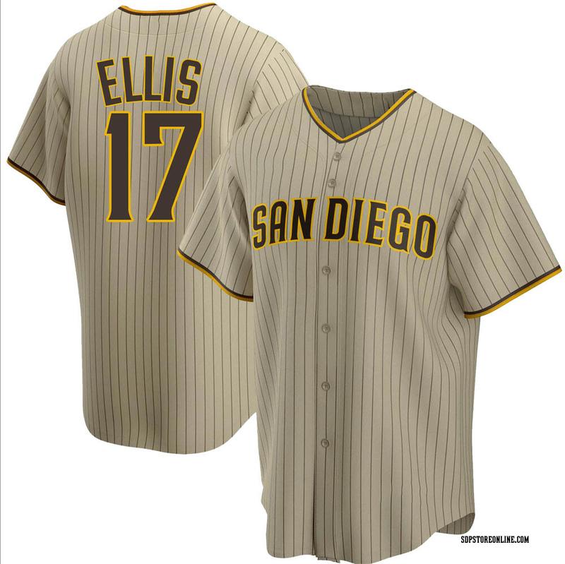 Men's A.J. Ellis San Diego Sand/Brown Replica Alternate Baseball Jersey (Unsigned No Brands/Logos)