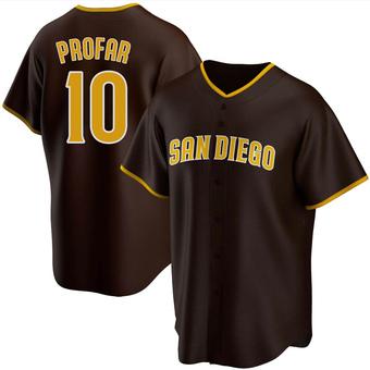 Men's Jurickson Profar San Diego Brown Replica Road Baseball Jersey (Unsigned No Brands/Logos)