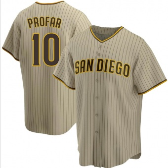 Men's Jurickson Profar San Diego Sand/Brown Replica Alternate Baseball Jersey (Unsigned No Brands/Logos)