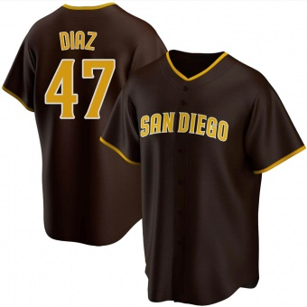 Men's Miguel Diaz San Diego Brown Replica Road Baseball Jersey (Unsigned No Brands/Logos)