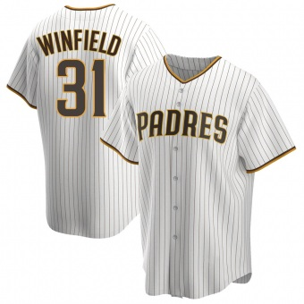 Youth Dave Winfield San Diego White/Brown Replica Home Baseball Jersey (Unsigned No Brands/Logos)
