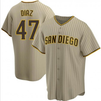 Youth Miguel Diaz San Diego Sand/Brown Replica Alternate Baseball Jersey (Unsigned No Brands/Logos)